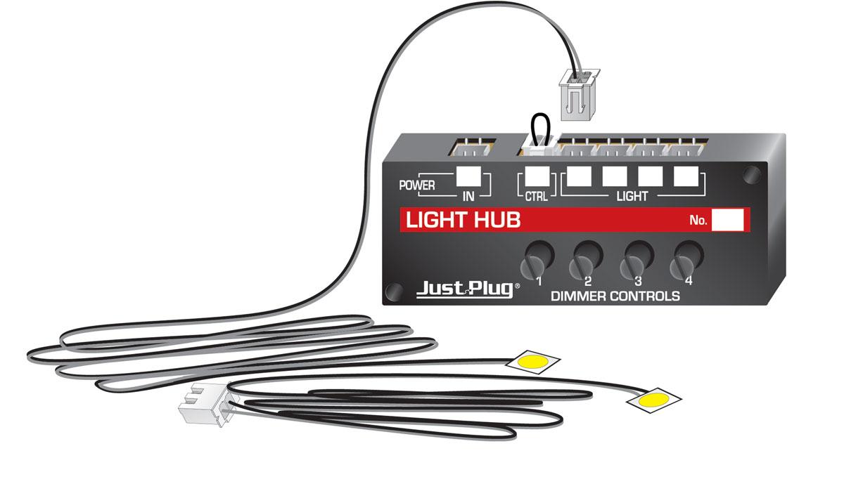Landscape Lighting Hub System : Lights hub set just plug? lighting system woodland
